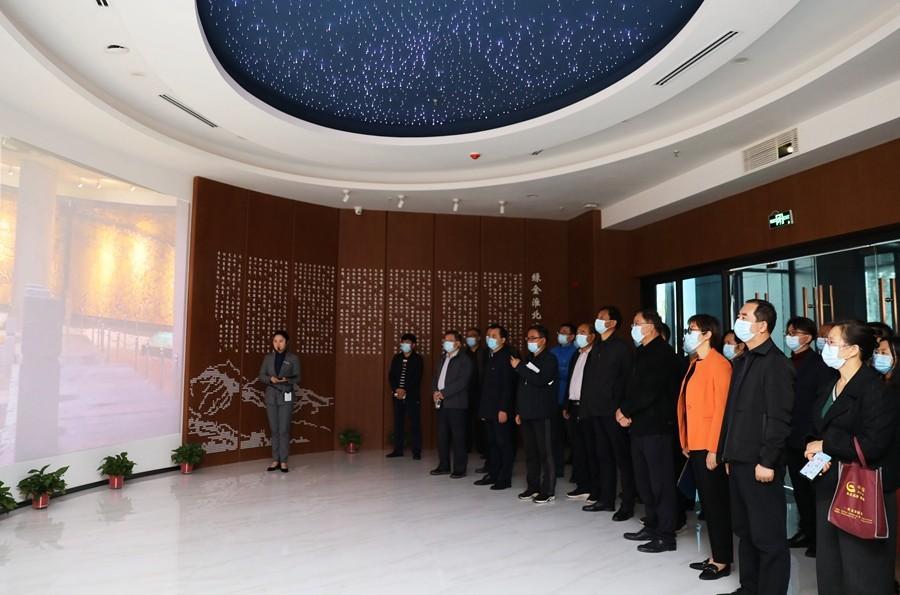 足彩app组织参观淮北市历史档案馆和城市展示馆